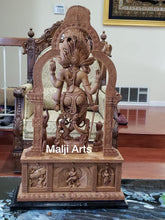 Load image into Gallery viewer, Sandalwood Carved Dancing Shiva Statue - Arts99 - Online Art Gallery
