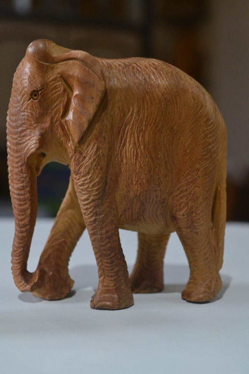 Sandalwood beautiful Hand Carved elephants - set of 2 - Arts99 - Online Art Gallery