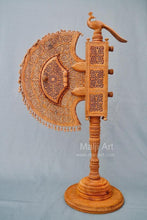 Load image into Gallery viewer, Sandalwood Unique Beautiful Krishna Collective Miniature Carved Hand Fan - Arts99 - Online Art Gallery