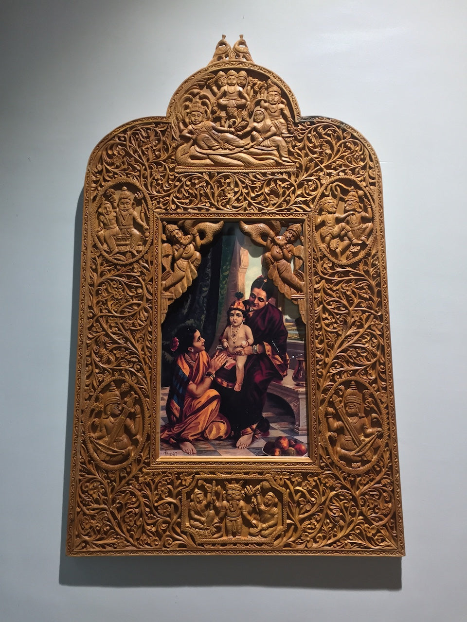 Sandalwood Rare Hand Carved Frame wall hanging artwork - Arts99 - Online Art Gallery