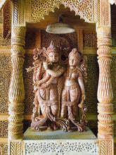 Load image into Gallery viewer, Sandalwood Fine Hand Carved Radha Krishna JHAROKHA - MR Handicrafts