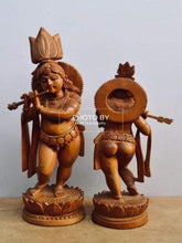 Load image into Gallery viewer, Sandalwood Antique Baby Krishna 2 Pieces Pair - Arts99 - Online Art Gallery