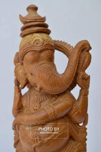 Load image into Gallery viewer, Vintage Sandalwood Carved Rare Lord Ganesha Dancing Statue - Arts99 - Online Art Gallery