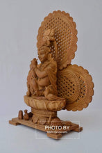 Load image into Gallery viewer, Sandalwood Carved Baby Krishna Statue with Unique Base - Arts99 - Online Art Gallery
