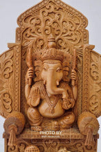 Load image into Gallery viewer, Sandalwood Beautifully Carved Lord Ganesha Mehrab Statue - Arts99 - Online Art Gallery