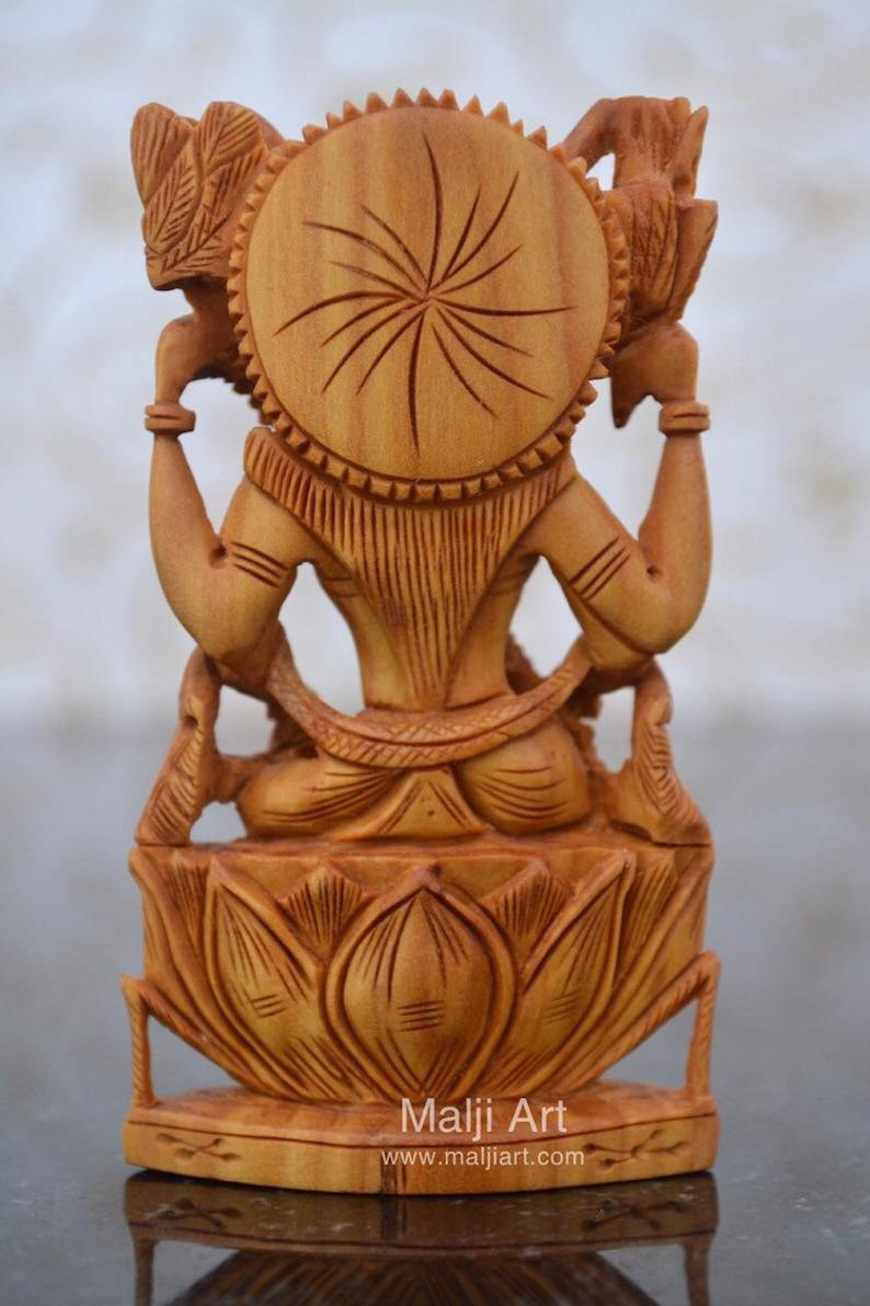 Sandalwood Beautifully Carved Goddess Saraswati Statue - Arts99 - Online Art Gallery