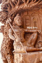 Load image into Gallery viewer, Sandalwood Beautifully Hand Carved Shiva Under Tree Statue - Arts99 - Online Art Gallery