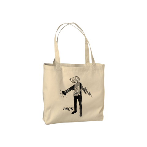 Cassette Head Tote Bag