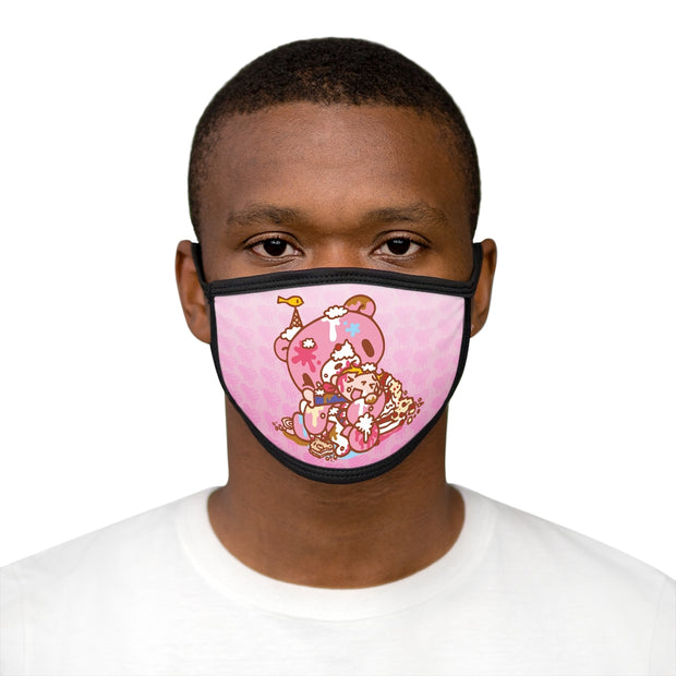 Gloomy & Pity Sweets Mixed-Fabric Face Mask