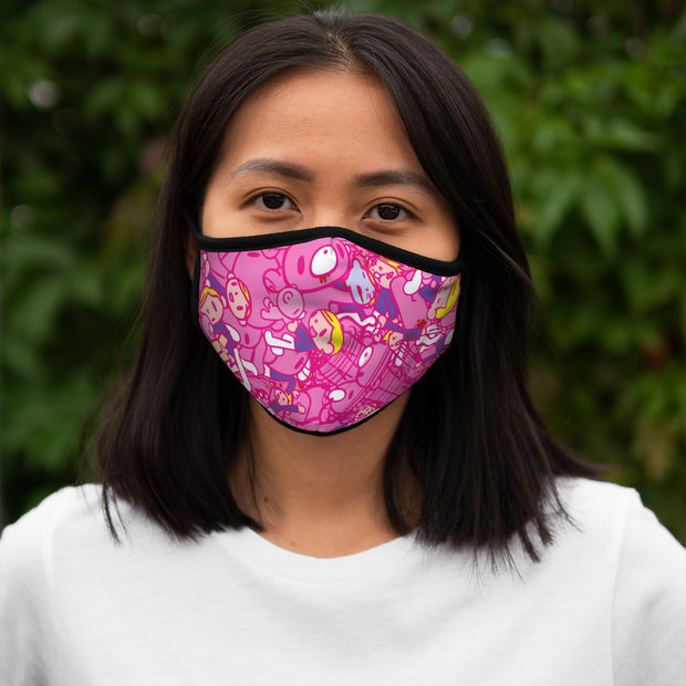 GLOOMY Pink Chaos Tile Pink AoP Face Mask