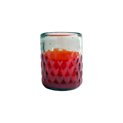 Vaso 'Old Fashioned' Base con Rombos (Rojo)