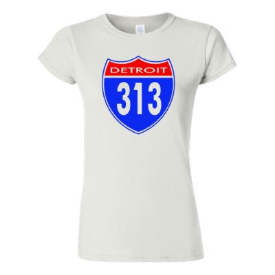 Detroit Street Apparel Co. Detroit 313 Womens T-Shirt