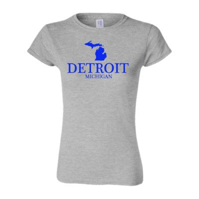 Detroit Street Apparel Co. Classic Detroit, MI Ladies T-Shirt