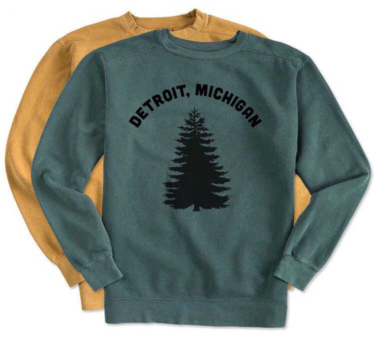 NEW Detroit Michigan Pine Trees SOFT Sweatshirt