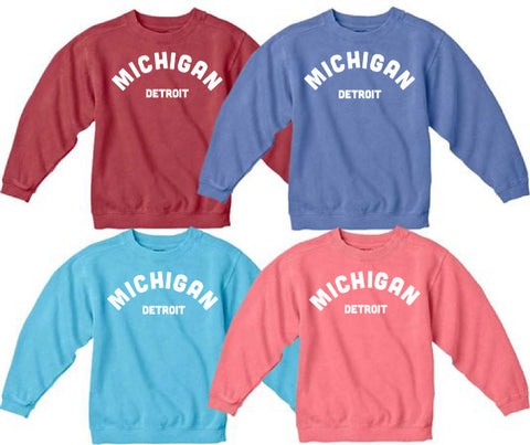 NEW Michigan Comfort Color Sweatshirt