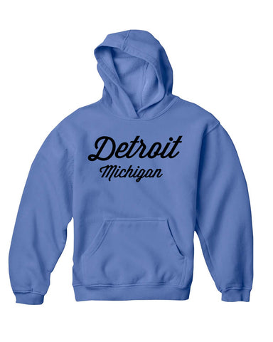 Detroit Street Apparel Detroit Script Comfort Color Hooded Sweatshirt