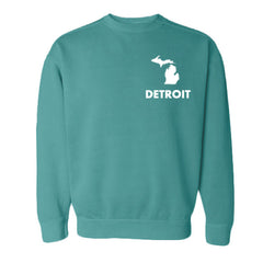 Detroit Street Apparel Left Chest Classic Michigan print
