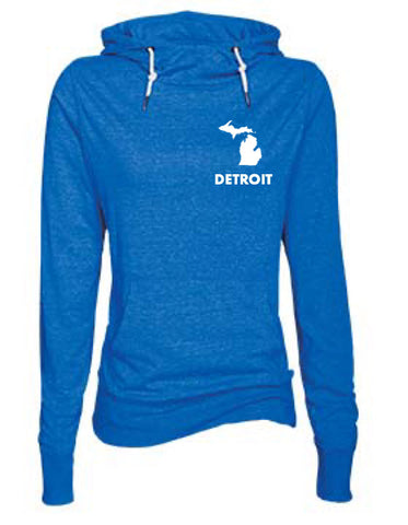 Detroit Street Apparel ladies longsleeve funnel neck Michigan tee