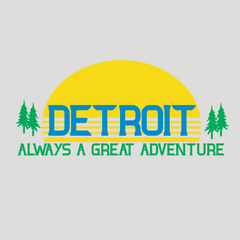Detroit Street Apparel Co. Always A Great Adventure Men's T-Shirt