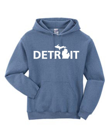 Detroit Street Apparel Co. Detroit Michigan Mitten Sweatshirt