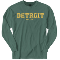 DSA Long Sleeve Pigment Dyed Detroit 1701 T-Shirt