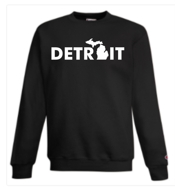 Detroit Street Apparel Detroit Mitten Champion Crewneck Sweatshirt