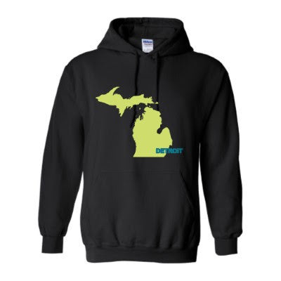 Detroit Street Apparel Co. Detroit Michigan Mitten Sweatshirts
