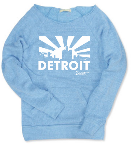 Detroit Street Apparel Ladies Detroit Skyline Print Sweatshirt