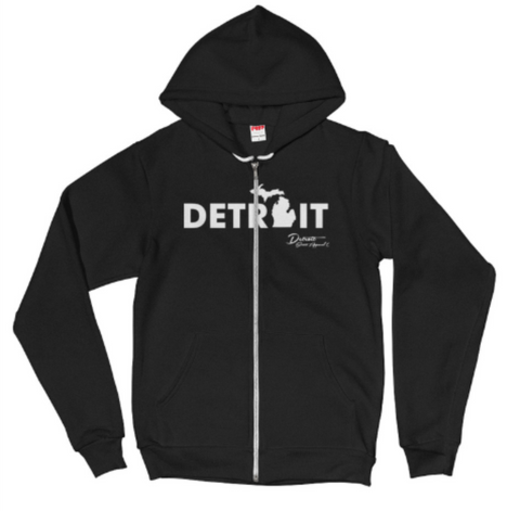 NEW American Apparel Detroit Mitten Zip up Hoodie