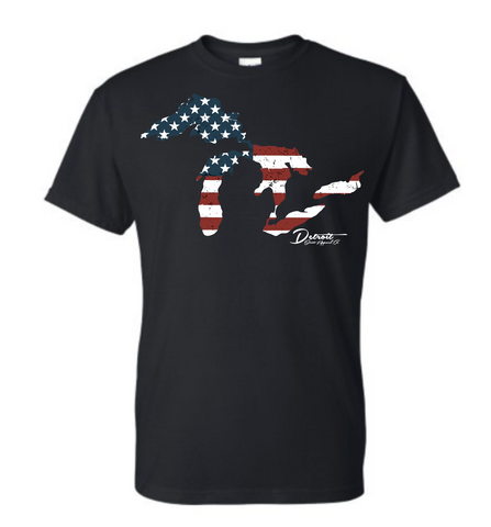 Detroit Street Apparel Great Lakes Flag T-Shirt