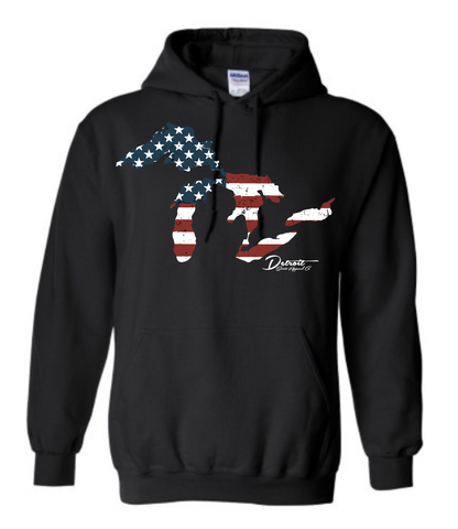 Detroit Street Apparel Great Lakes Flag Sweatshirts