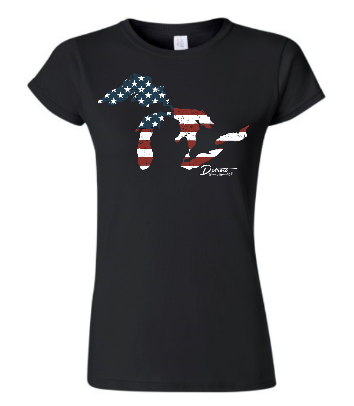 Detroit Street Apparel Great Lakes Flag Ladies T-Shirt
