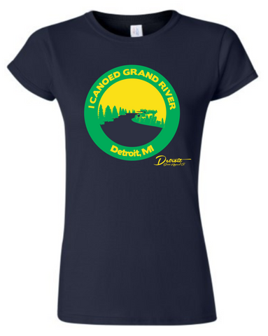 Detroit Street Apparel Canoe Grand River Ladies T-Shirt