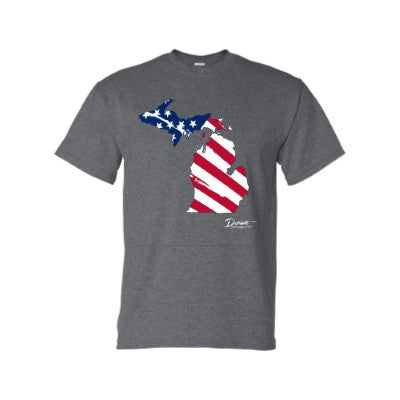 Detroit Street Apparel Michigan Flag T-Shirt
