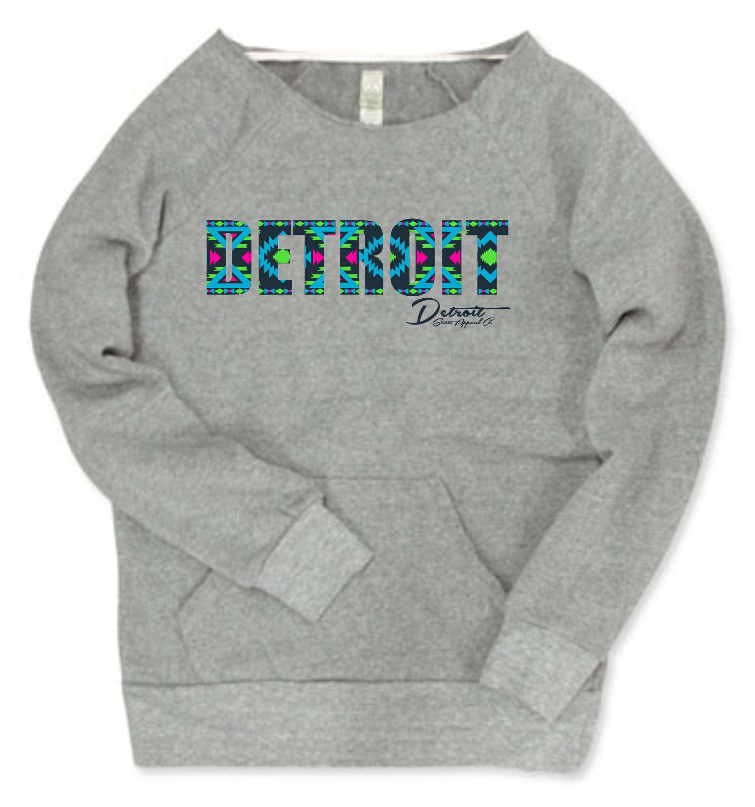 Detroit Street Apparel Ladies Aztek Print Sweatshirt
