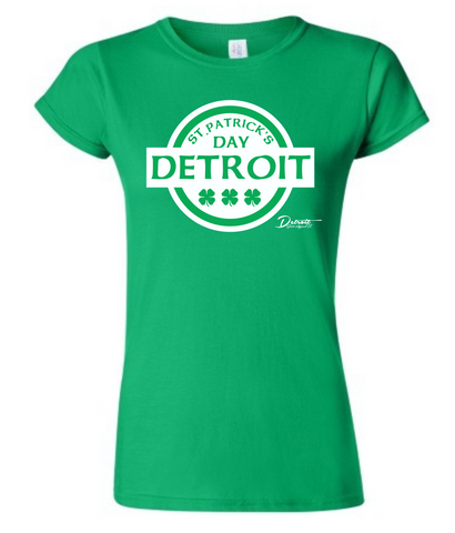 Detroit Street Apparel CO. 2015 St. Patrick's Day Ladies T-Shirt