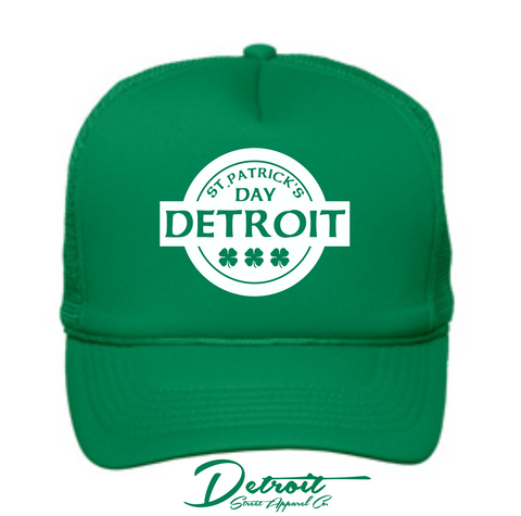 Detroit Street Apparel CO. 2015 St. Patrick's Day Poly-Foam / Mesh Back Cap