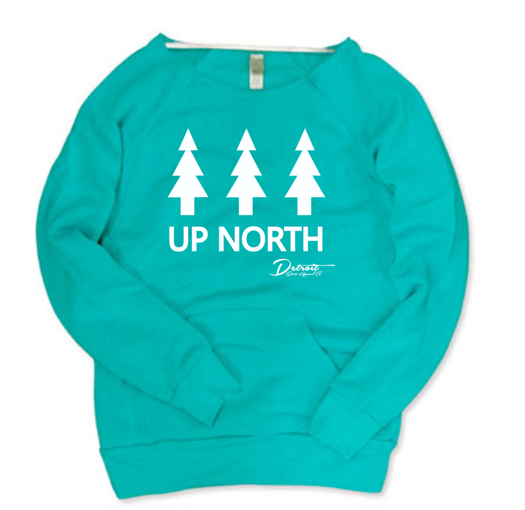 Detroit Street Apparel Ladies Up North Print Sweatshirt