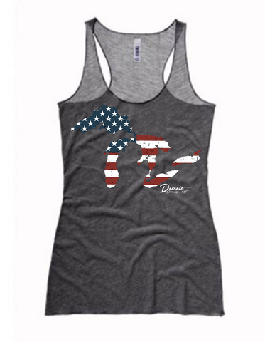 Detroit Street Apparel Great Lakes Flag Ladies Tank Top