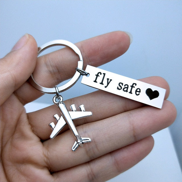 Fly Safe Keychain Best Gift