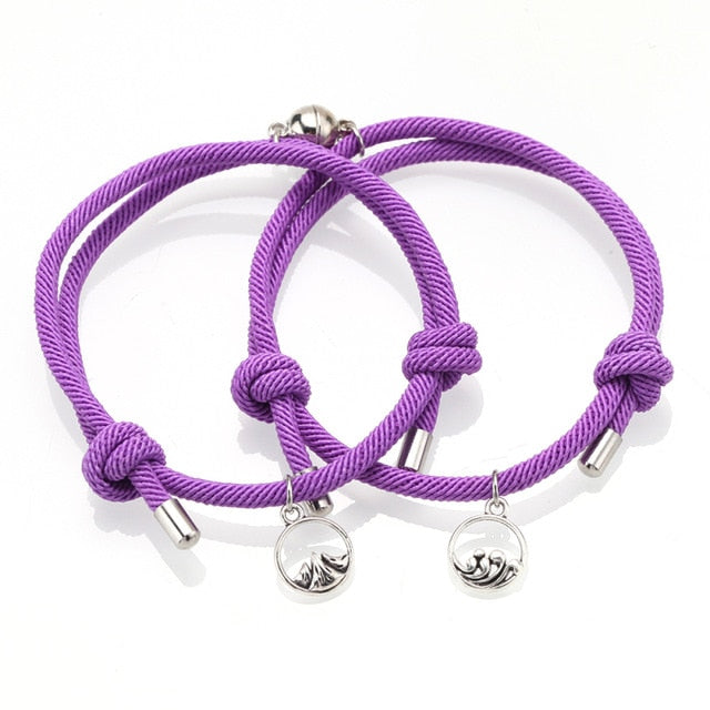 Attract couples bracelets