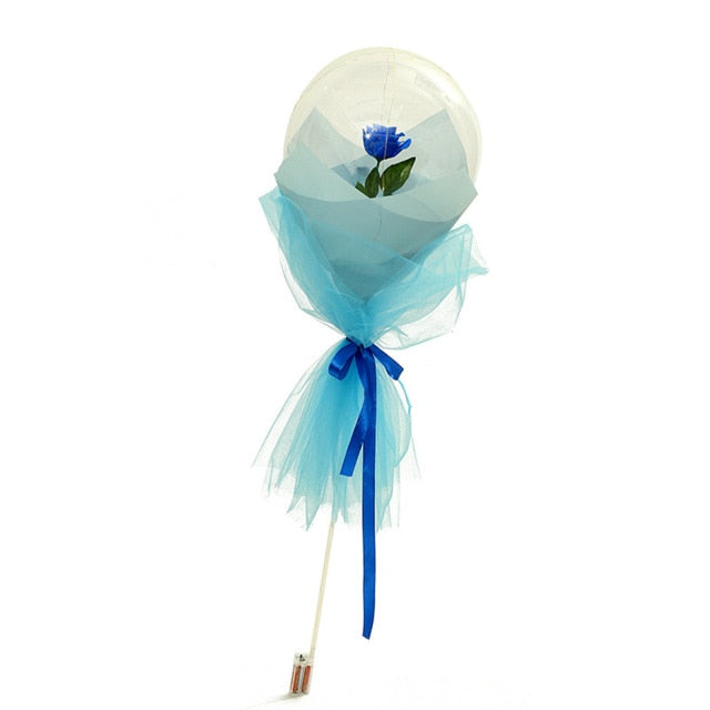 "Luminous Rose Balloon: The ""Forever"" Rose"