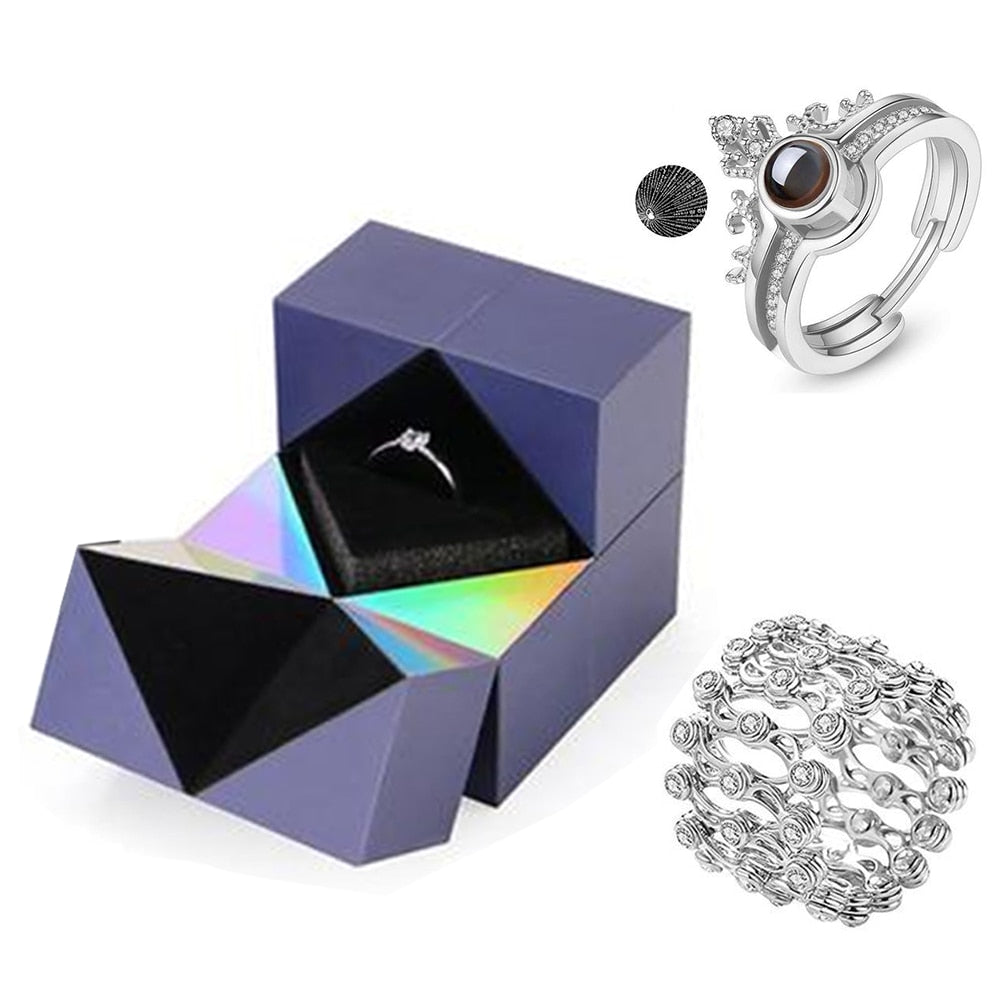 "Valentine's Day Gift Magic Puzzle Box with ""I love you"" Ring and Bracelet"