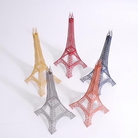 "12"" Laser Cut Paper Eiffel Tower Model"
