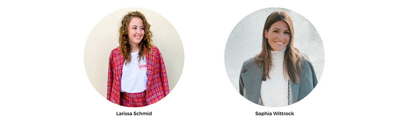 The Founders of The Muse Club: Sophia Wittrock & Larissa Schmid