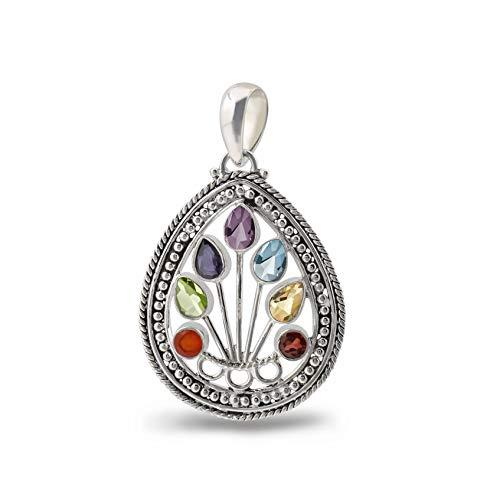 Still Point Seven Chakra High Polish Sterling Silver Pendant