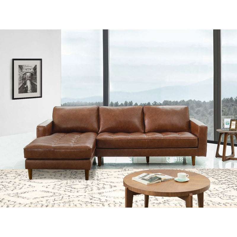 Holloway Mid-Century Leather Sectional