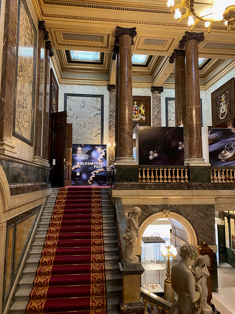 Inside Goldsmiths' Hall on the main staircase