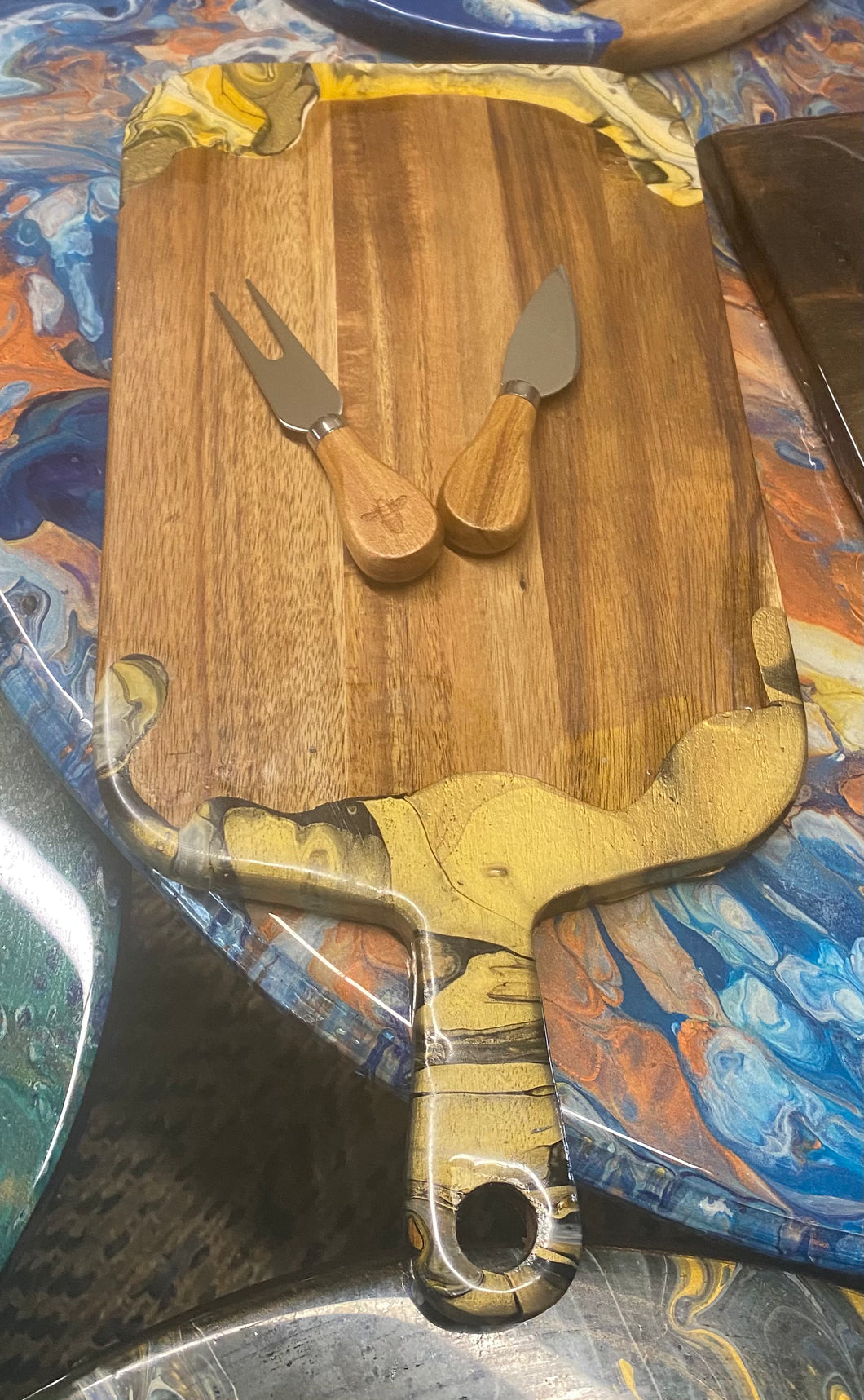 Cheese board , bamboo , one of a kind
