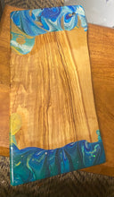 Load image into Gallery viewer, Cheese board made from olive wood